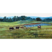Inkstry Grazing on Pinnacle Mountain Canvas Print