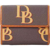 Dooney & Bourke Monogram Small Flap Wallet