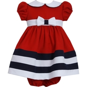 Bonnie Jean Infant Girls Nautical Collar Dress