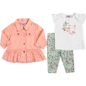 Little Lass Infant Girls Jacket, Tee and Leggings 3 pc. Set
