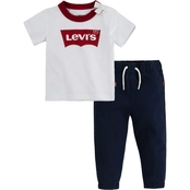 Levi's Toddler Boys Tee and Jogger Pants 2 pc. Set