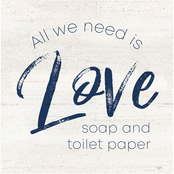 Inkstry Bathroom Humor III Love Canvas Print