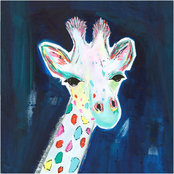 Inkstry Tie Dye Giraffe Canvas Print