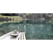 Inkstry Boat Dock Giclee Gallery Wrap Canvas Print