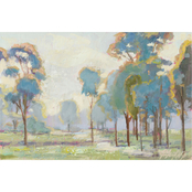 Inkstry Blue Trees in Landscape Canvas Print