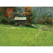 Inkstry The Tobacco Barn Giclee Gallery Wrap Canvas Print