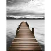 Inkstry Mountain Jetty Canvas Print