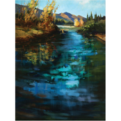 Inkstry Blue Cascade Gallery Wrap Canvas Print