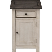 Coast to Coast Accents St. Claire 1 Door 1 Drawer Chairside Cabinet