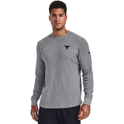 Under Armour Project Rock Waffle Crew Top