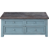 Coast to Coast Accents Bar Harbor 2 Drawer Lift Top Cocktail Table