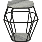 Coast to Coast Accents Octagonal Accent Table