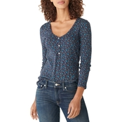 Lucky Brand Printed Knit Top