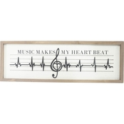 Simply Perfect Treble Clef Wall Decor Sign 23.6 x 7.8