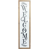 Simply Perfect Welcome Sign 6 x 24