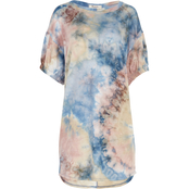 Mikey and Joey Juniors Tie Dye French Terry Tee Dress