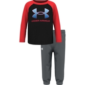 Under Armour Toddler Boys Logo Top and Pants 2 pc. Set