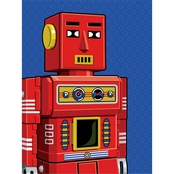 Trademark Fine Art Ron Magnes Vintage Red Robot Canvas Art