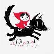 Trademark Fine Art Michael Buxton Red Riding Canvas Art
