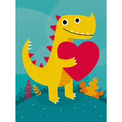 Trademark Fine Art Michael Buxton Dino Love Canvas Art