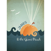 Trademark Fine Art Megan Romo James and the Giant Peach Canvas Art