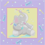 Trademark Fine Art Jade Reynolds Baby Elephant Bath I Canvas Art