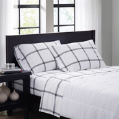 Truly Soft Printed Windowpane Sheet Set