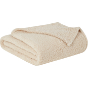 Brooklyn Loom Marshmallow Sherpa Throw Blanket