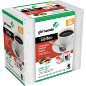 Girl Scouts Chocolate Peanut Butter Coffee Single Serve Brew Cup 18 ct.
