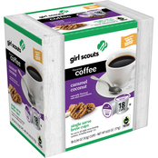 Girl Scouts Caramel Coconut Coffee Single Serve Brew Cup 18 ct.