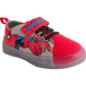 Marvel Toddler Boys Spider-Man Lighted Canvas Low Shoes