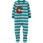 Carter's Toddler Boys One Piece Bear Poly Footie Pajamas