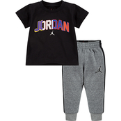 Jordan Infant Boys 91 To Infinity Tee and Jogger Pants 2 pc. Set
