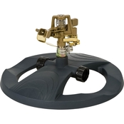 Melnor Metal Pulsating Sprinkler with Weighted Base