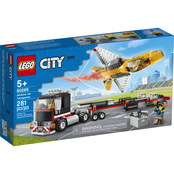 LEGO City Great Vehicles Airshow Jet Transporter Playset