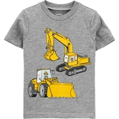 Carter's Toddler Boys Construction Action Graphic Slub Jersey Tee