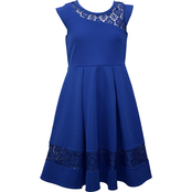 Bonnie Jean Little Girls Royal Lace Skater Dress