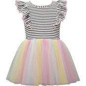 Bonnie Jean Infant Girls Knit to Rainbow Dress