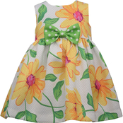 Bonnie Jean Toddler Girls Sunflower Pique Dress