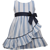 Bonnie Jean Toddler Girls Ruffle Bow Dress
