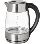 Frigidaie 7.2 Cup Silver Glass Kettle with Digital Temperature Control