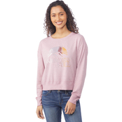 Wallflower Juniors French Terry Graphic Pullover
