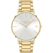 COACH Charles Gold Tone 41mm Watch 14602430