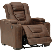Signature Design by Ashley Owner's Box Power Recliner with Adjustable Headrest