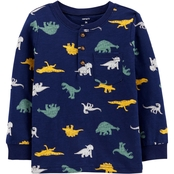 Carter's Toddler Boys Dinosaur Henley Tee