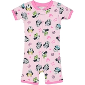 Disney Infant Girls Minnie Cotton Romper Pajamas