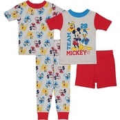 Disney Toddler Boys Mickey 4 pc. Pajama Set