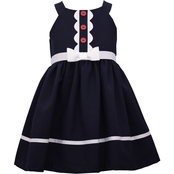 Bonnie Jean Toddler Girls Scalloped Placket Dress