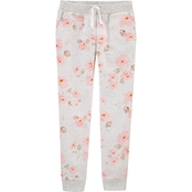 OshKosh B'gosh Little Girls Floral Logo Fleece Pants