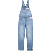 OshKosh B'gosh Little Girls Knit Denim Overalls